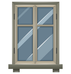 window design with gray frame vector image vector image