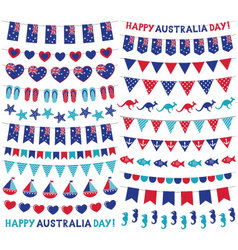 Bunting decoration set for australia day vector