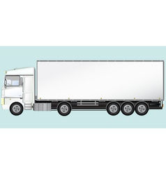 Isolated modern truck vector