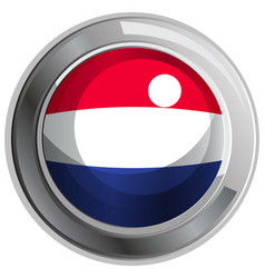 Round badge for netherland flag vector