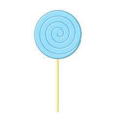 lollipop blue on stick isolated candy on white vector image