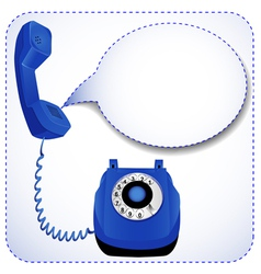 Telephone with raised tube vector
