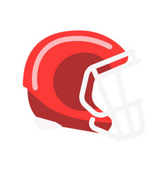 Red solid helmet with lattice for american vector