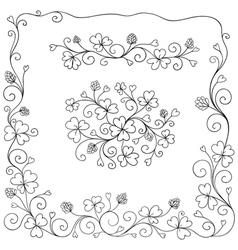 Set of spring design elements vector