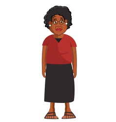 grandmother black vector image