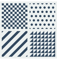 Set of simple patterns vector image