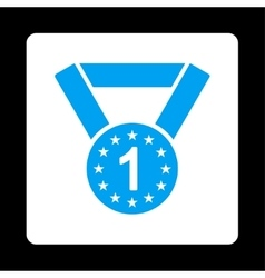 First medal icon from award buttons overcolor set vector