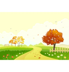 Autumn path vector