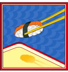 chopsticks vector image