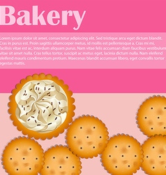 Bakery theme with crackers and text vector