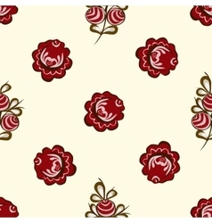 Red berries seamless pattern background vector