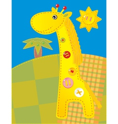 Childish applique  giraffe vector