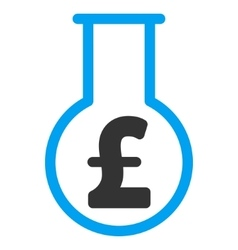 Pound financial alchemy flat icon symbol vector