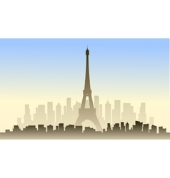 View of france city and eiffel tower vector