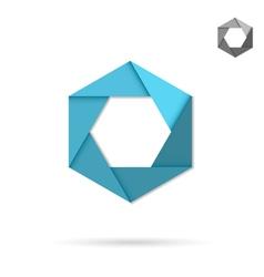 Hexagonal figure sign vector
