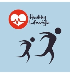 Healthy lifestyle design bodycare icon isolated vector