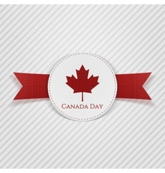 Canada day greeting red tag vector