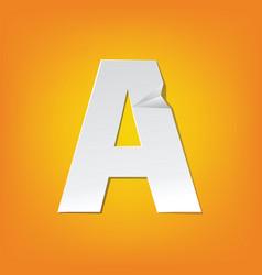 A capital letter fold english alphabet new design vector