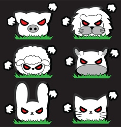 Angry little Animal Set vector image vector image