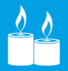 Aromatic candles icon white vector