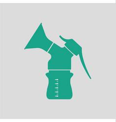 Breast pump icon vector