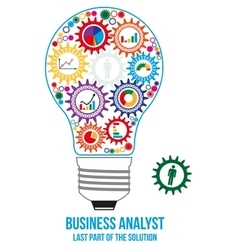 Business analyst design concept vector