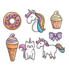 Cute unicorn design vector