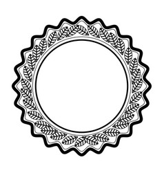 decorative frame icon vector image