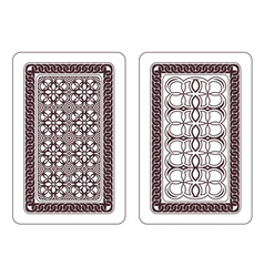 Design of playing cards vector image vector image