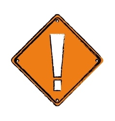 Drawing warning alert attention sign icon vector