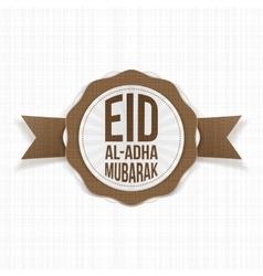 Eid al-adha mubarak greeting label vector