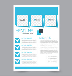 flyer design background brochure template vector image vector image