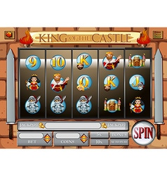 Game template wtih king and queen vector