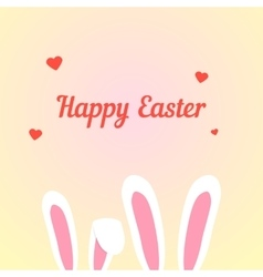 happy easter with love rabbits vector image