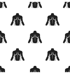 Human back icon in black style isolated on white vector image