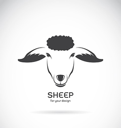 Image of a sheep head design vector