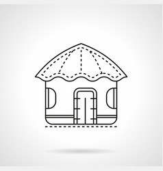 Island hut flat line icon vector