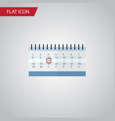 isolated calendar flat icon date block vector image
