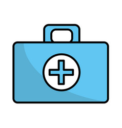 medical aid kit emergency care vector image vector image