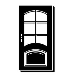 office door icon simple style vector image