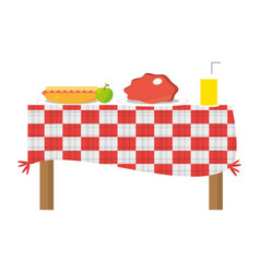 Picnic delicious food vector