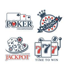 poker championship at casino isolated promotional vector image