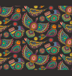seamless pattern with colorful ethnic vector image