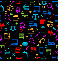 Seamless pattern with sale items online shopping vector