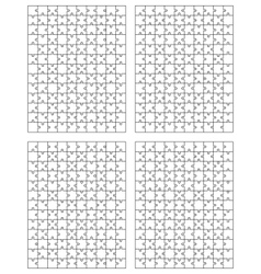 Set of puzzle 2 vector image vector image