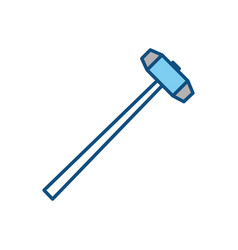 Sledgehammer construction tool vector