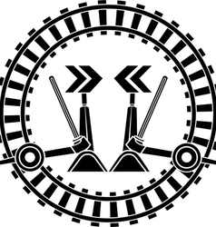 Switch arrows railway vector image