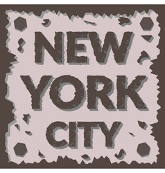 T shirt typography graphic New York city Grunge vector image