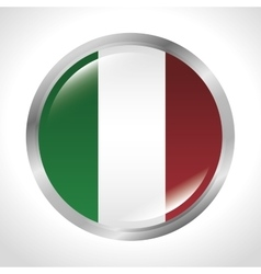 Italy flag isolated icon vector