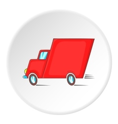 Lorry icon isometric style vector